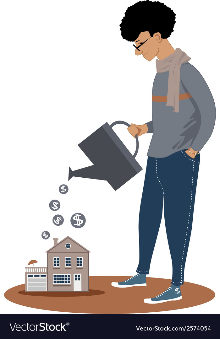 Investing in real estate vector image