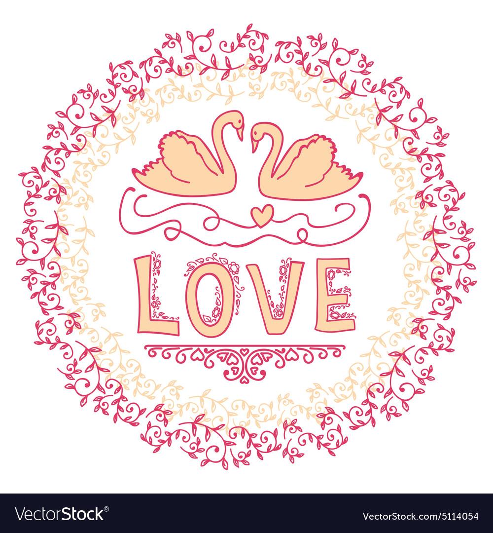 Set of wedding ornaments and decorative elements vector image junglespirit Choice Image