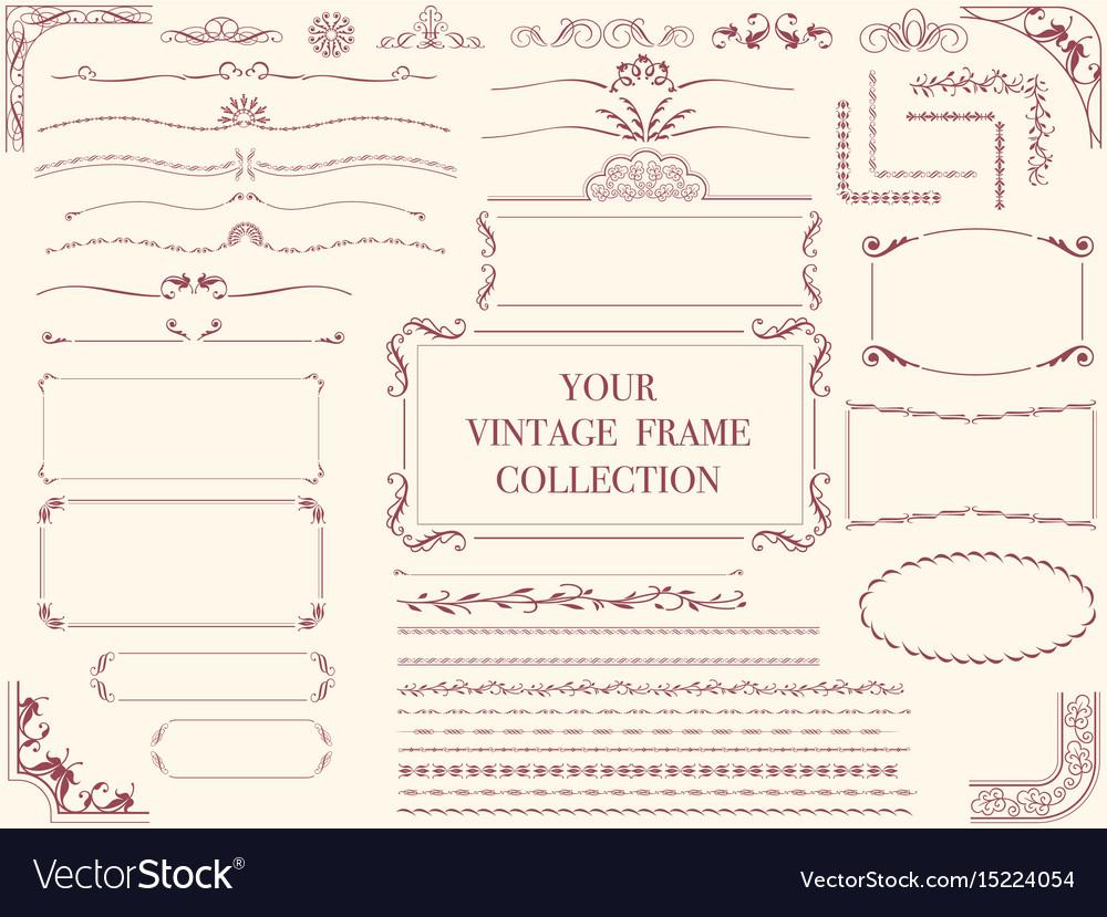Vintage frames 1 vector image