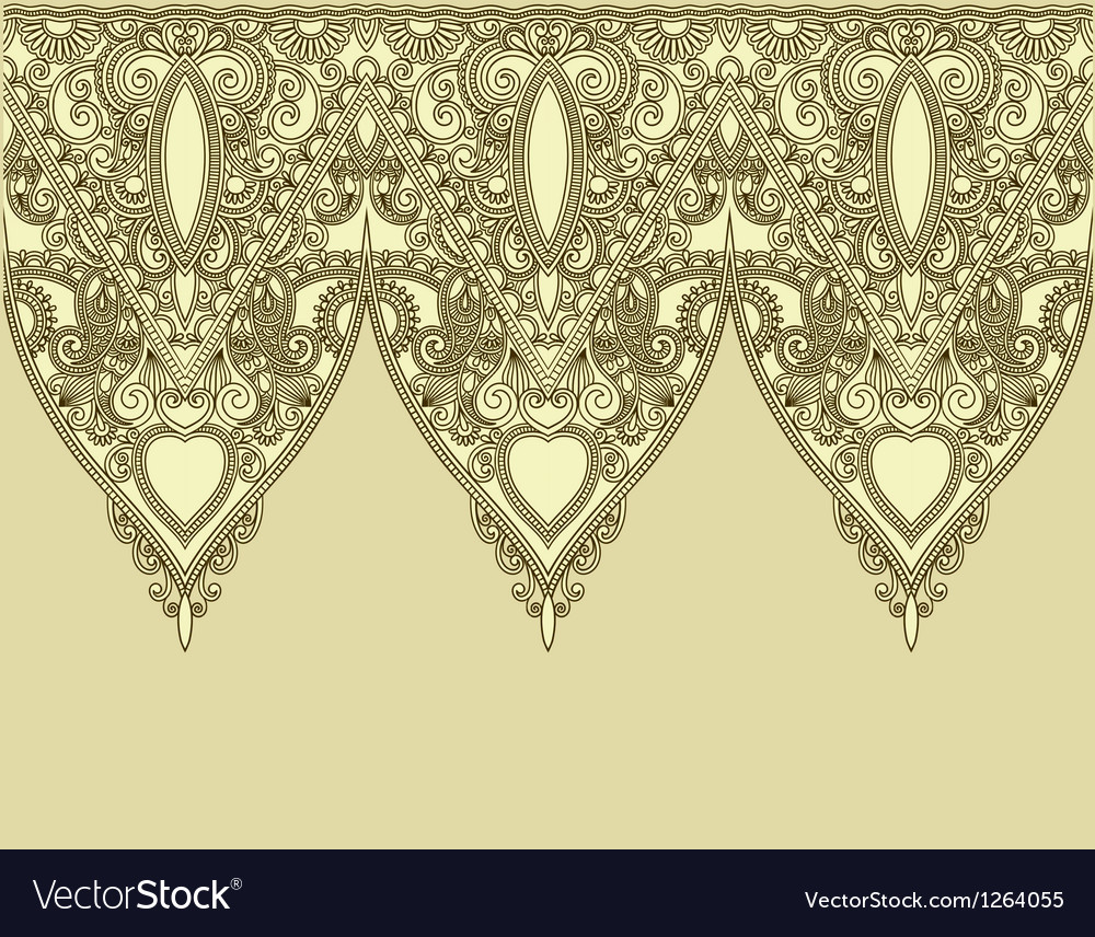 Ornamental seamless stripe decorative element vector image