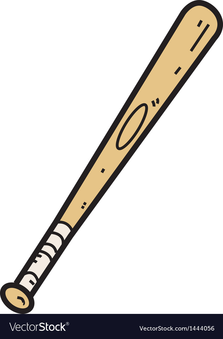 Wooden Baseball Bat vector image