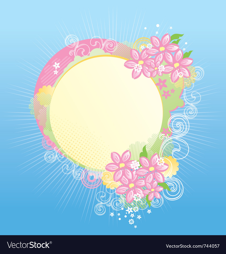 Floral banner with copy space for your text vector image