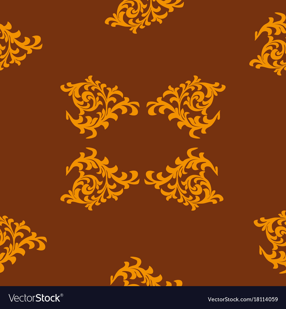 Abstract patterns of golden color vector image