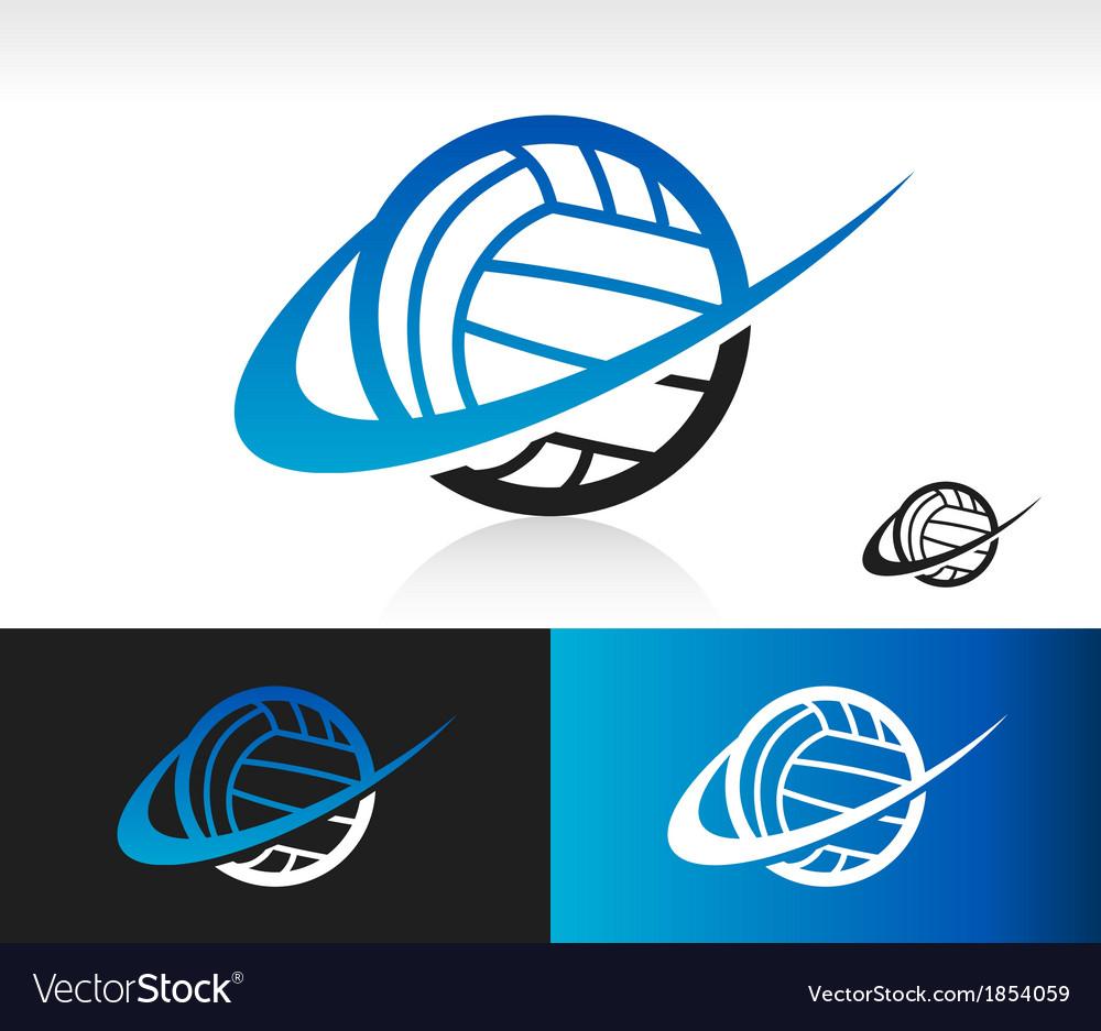 Swoosh Volleyball Logo Icon vector image