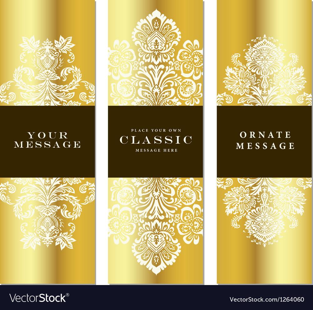 Gold frame set vector image