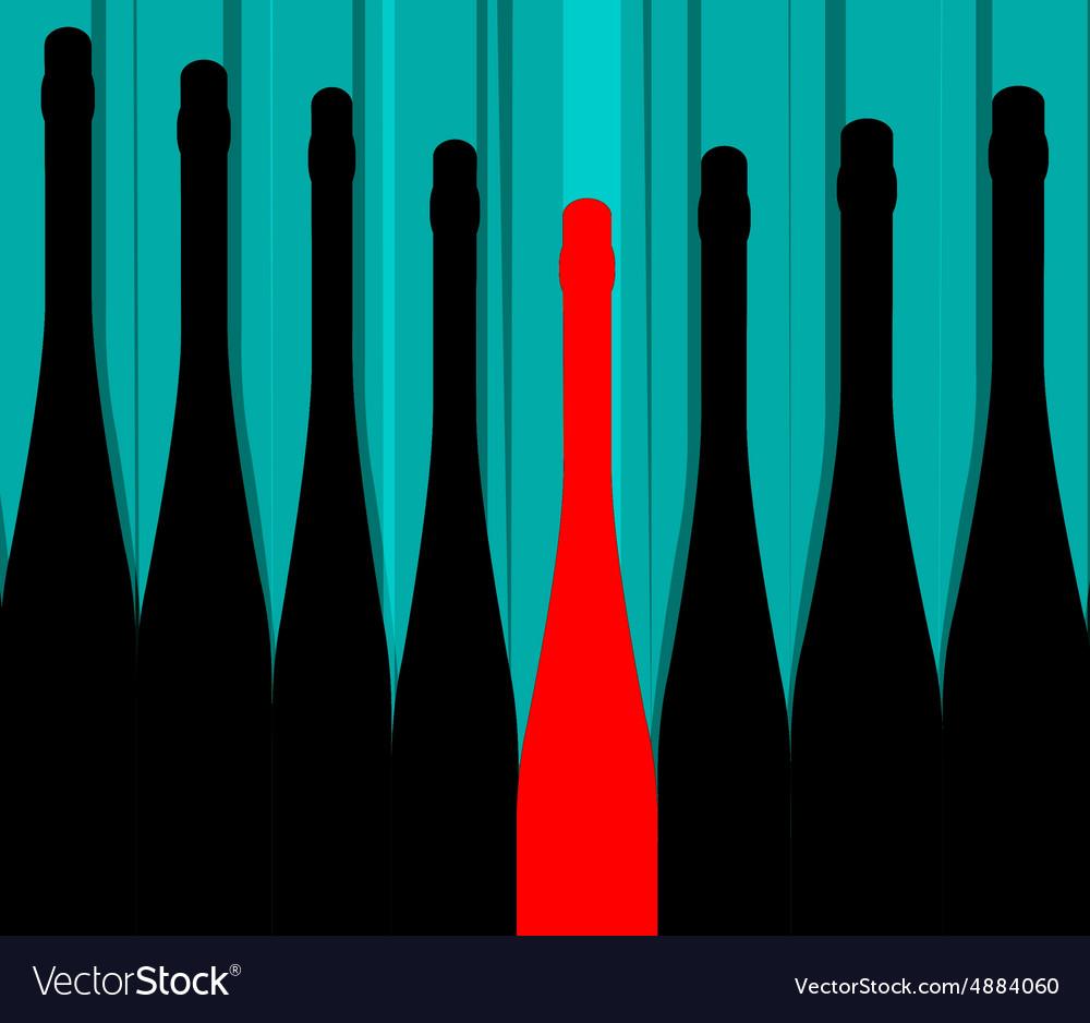 Bottles background vector image