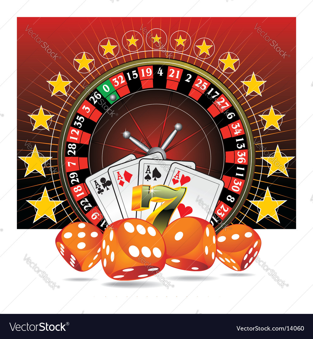 Casino elements vector image