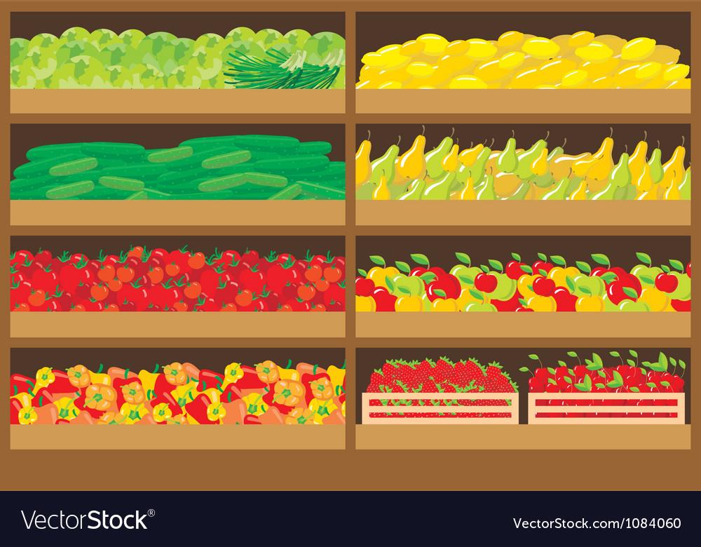 Vegetable shop vector image