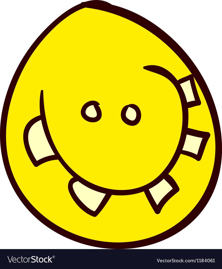 Smiley Doodle 33 vector image