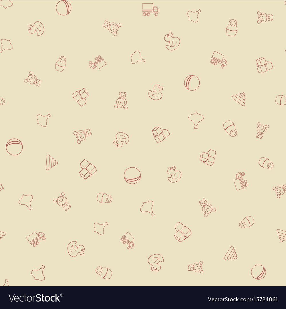 Kids toys seamless pattern vector image