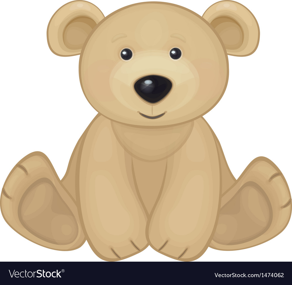 Bear sit vector image