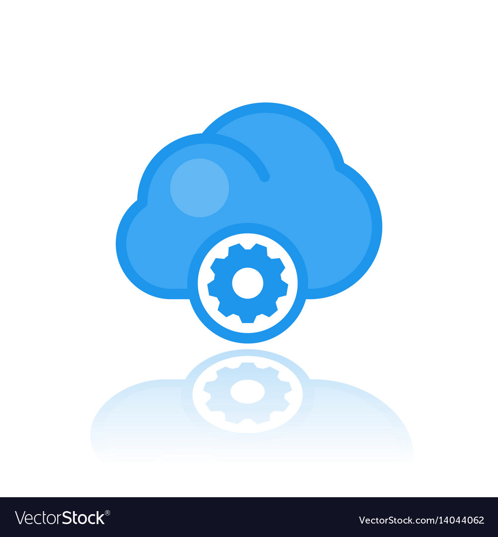 Cloud computing icon in flat style vector image
