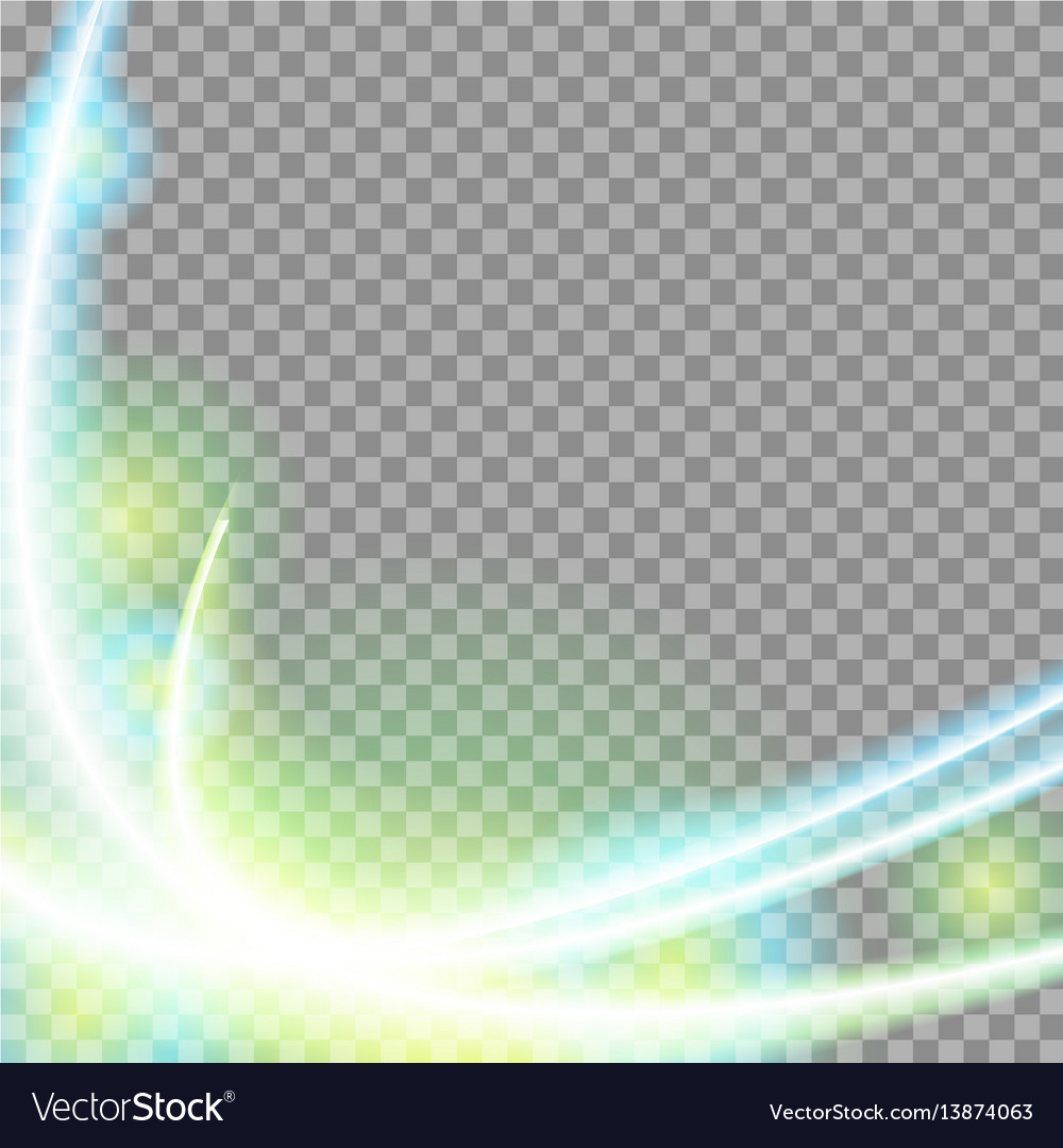 Abstract green blue transparent waves background vector image
