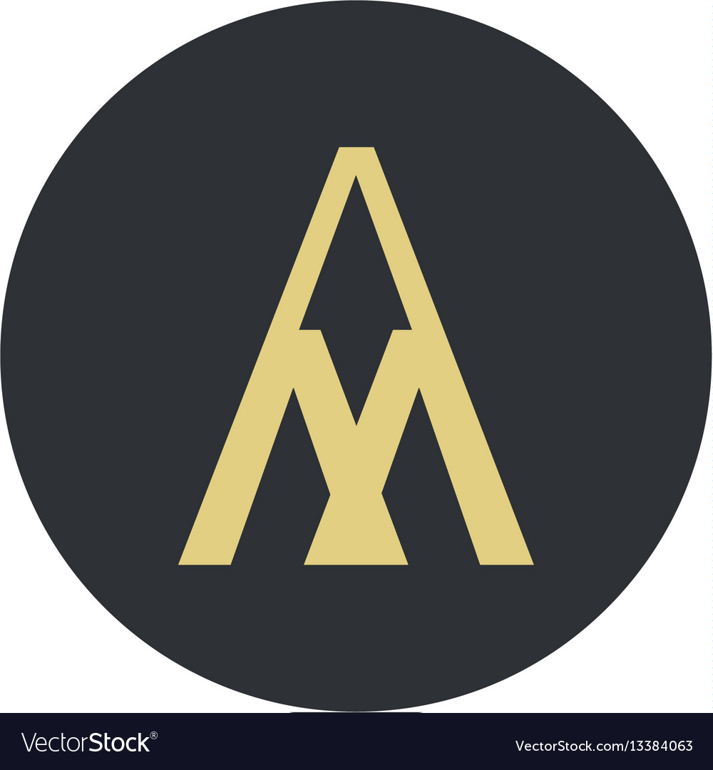 Logo for letter a and m vector image