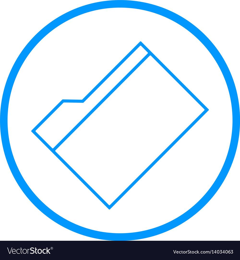 Manila folder line icon vector image