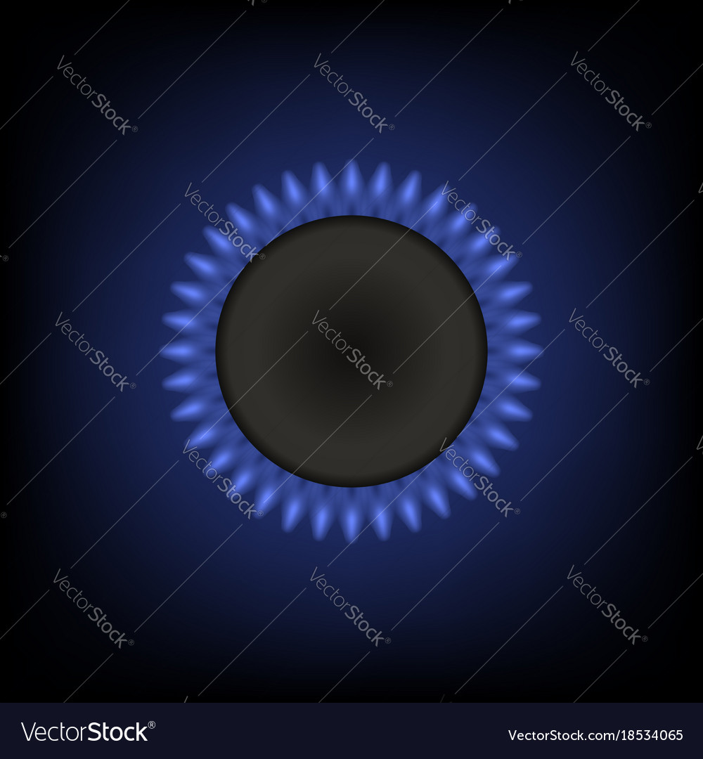 Gas burning fire isolated vector image