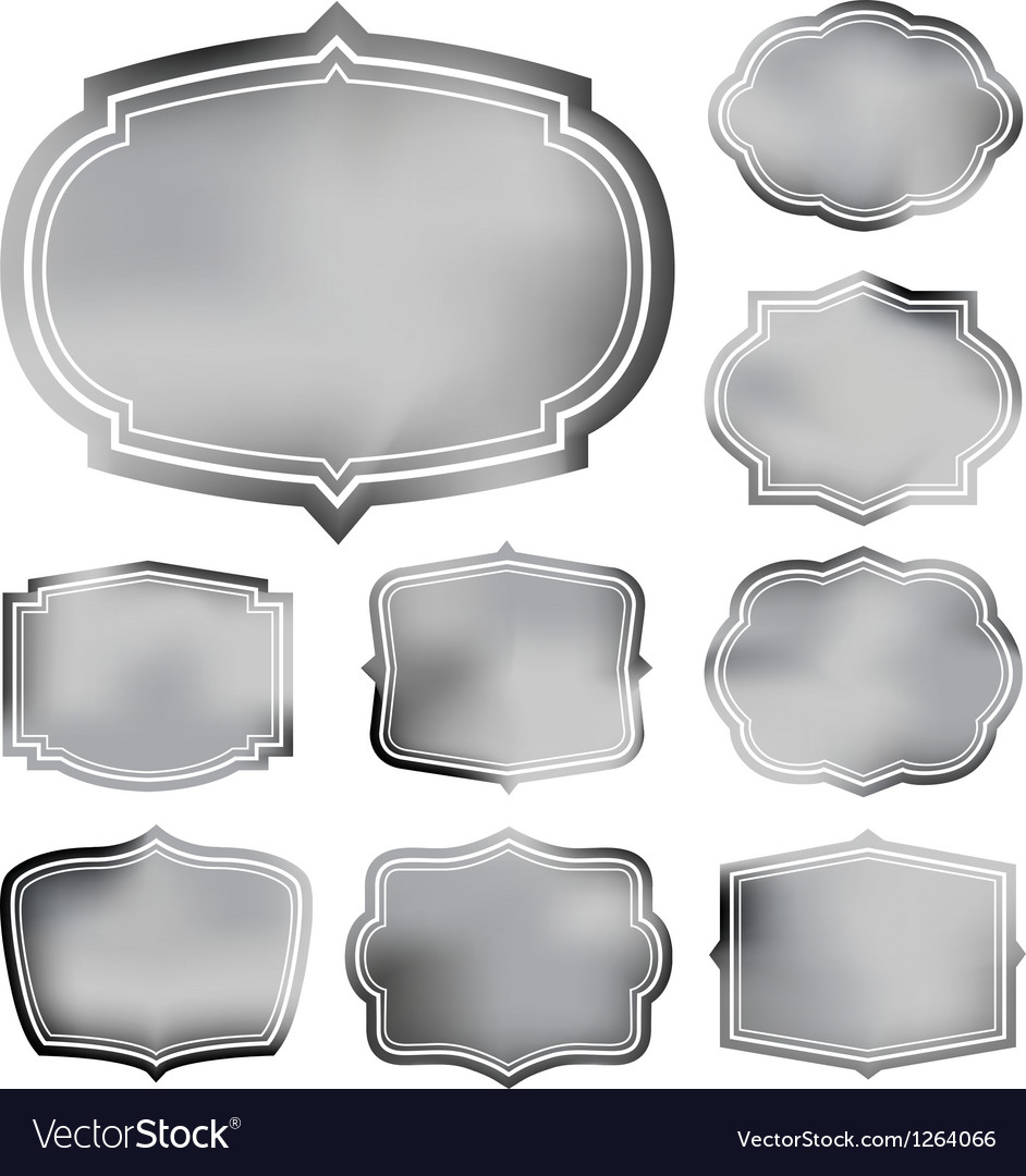 Faded frame set Vector Image