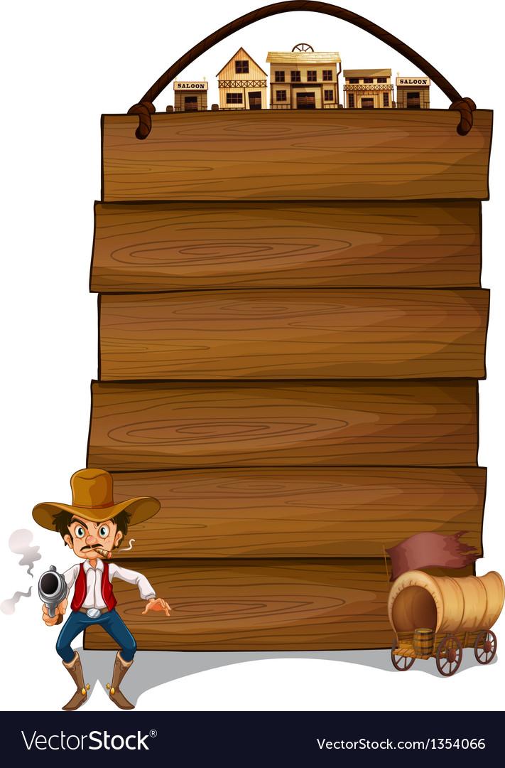 Cowboy Signboard vector image