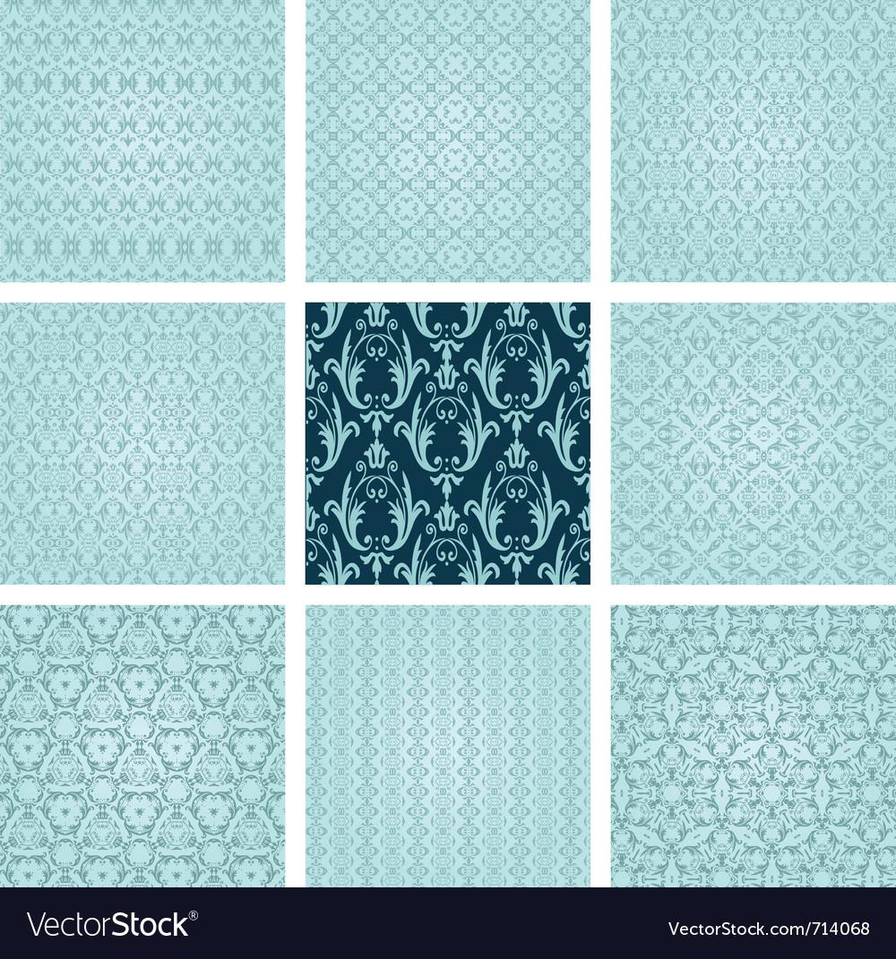 Retro wallpaper set vector image