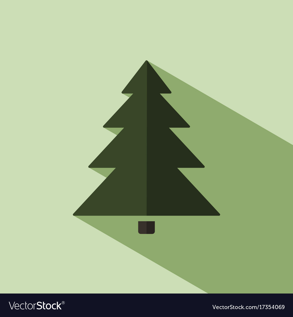 Christmas Tree Facebook Icon: Christmas Tree Icon With Shade Royalty Free Vector Image
