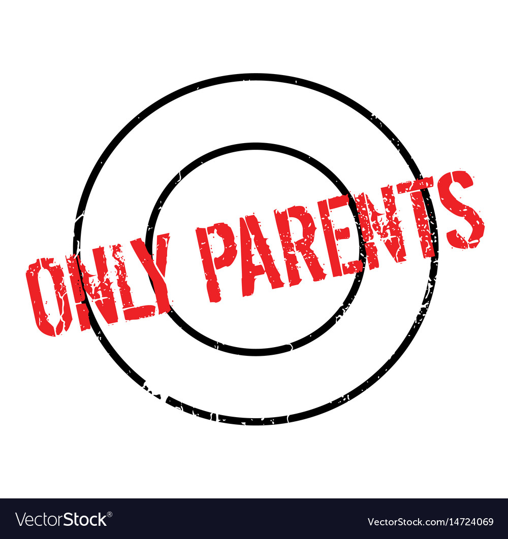 Only parents rubber stamp vector image