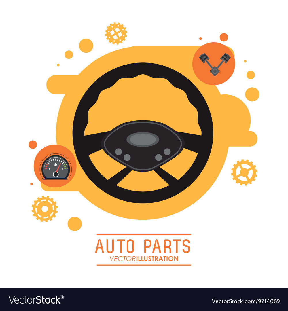 Rudder icon Auto part design graphic vector image