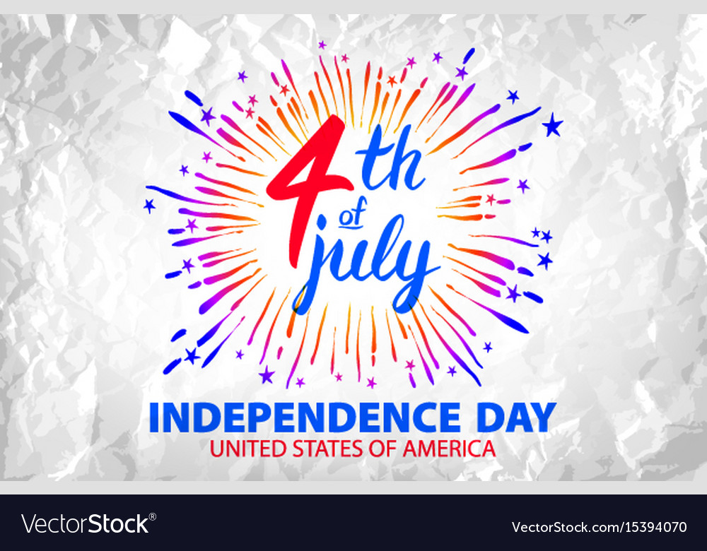 Firework celebrating independence day vector image
