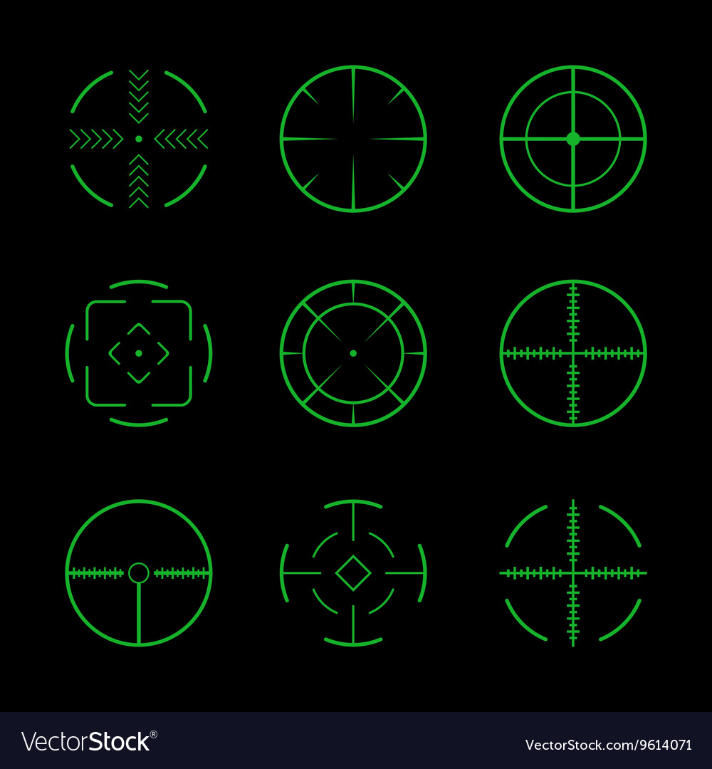 Set of crosshairs target icons vector image