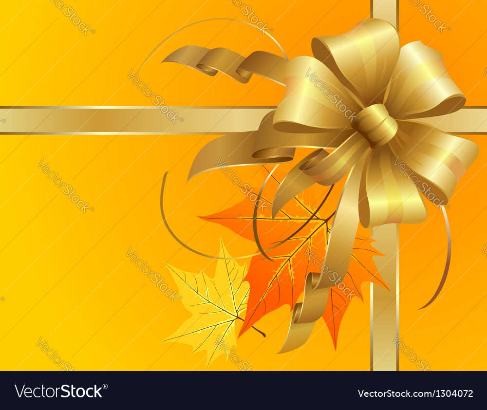 Thanksgiving Bow vector image