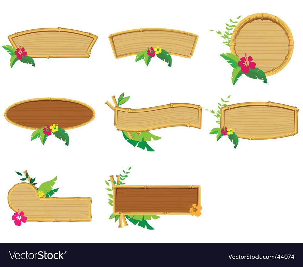Bamboo border vector image