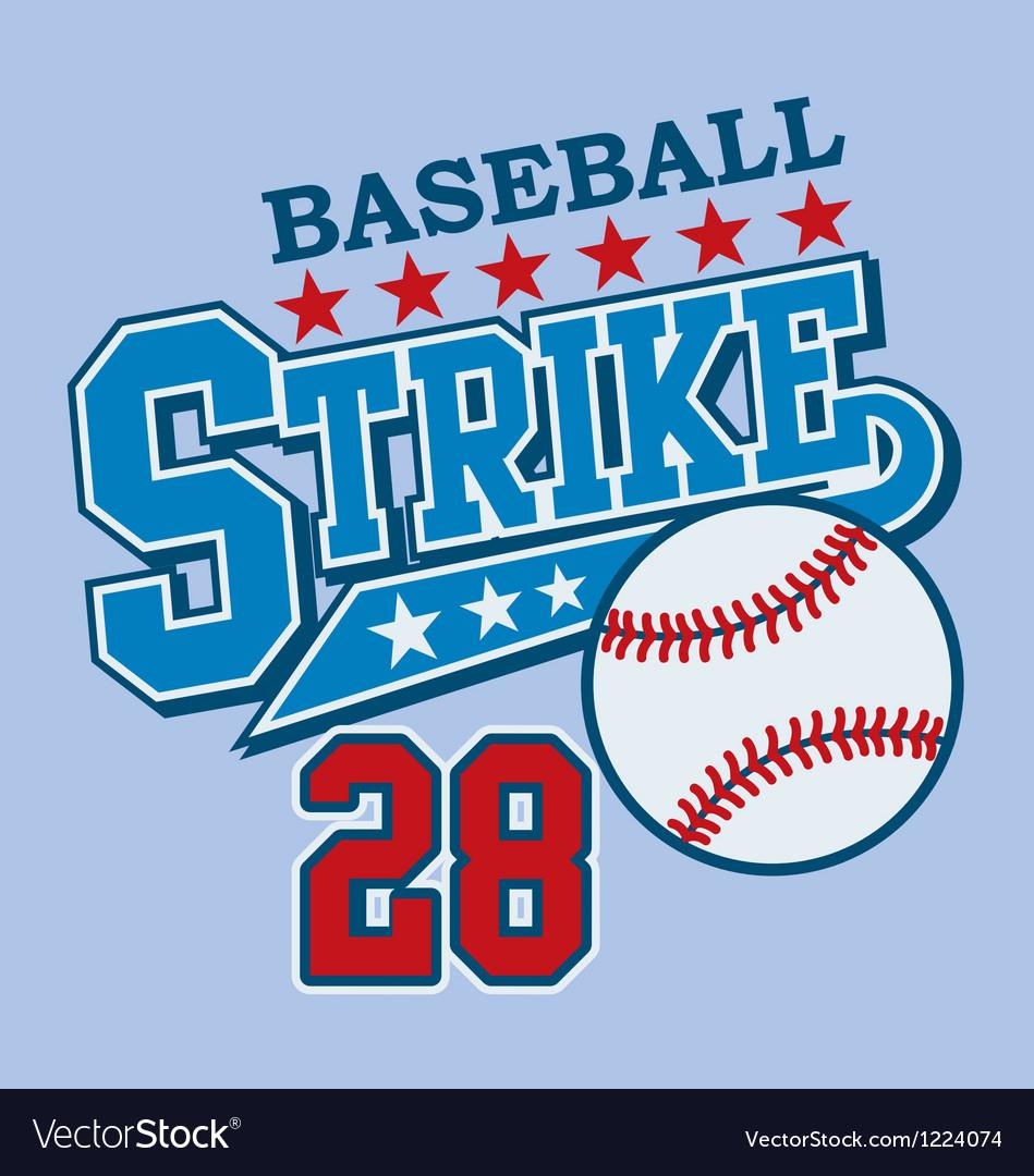 Strike vector image
