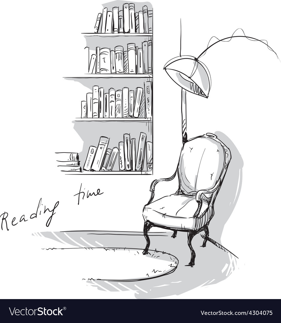 Reading time vector image