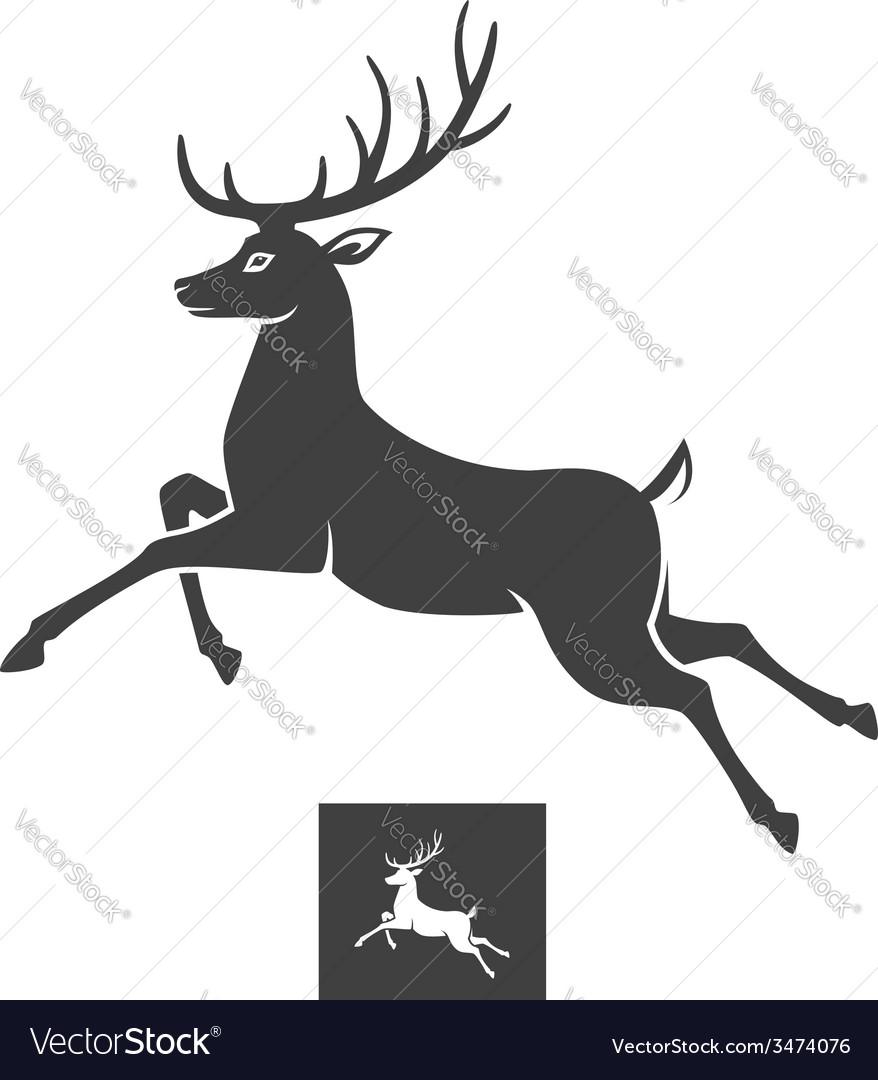 Running deer vector image