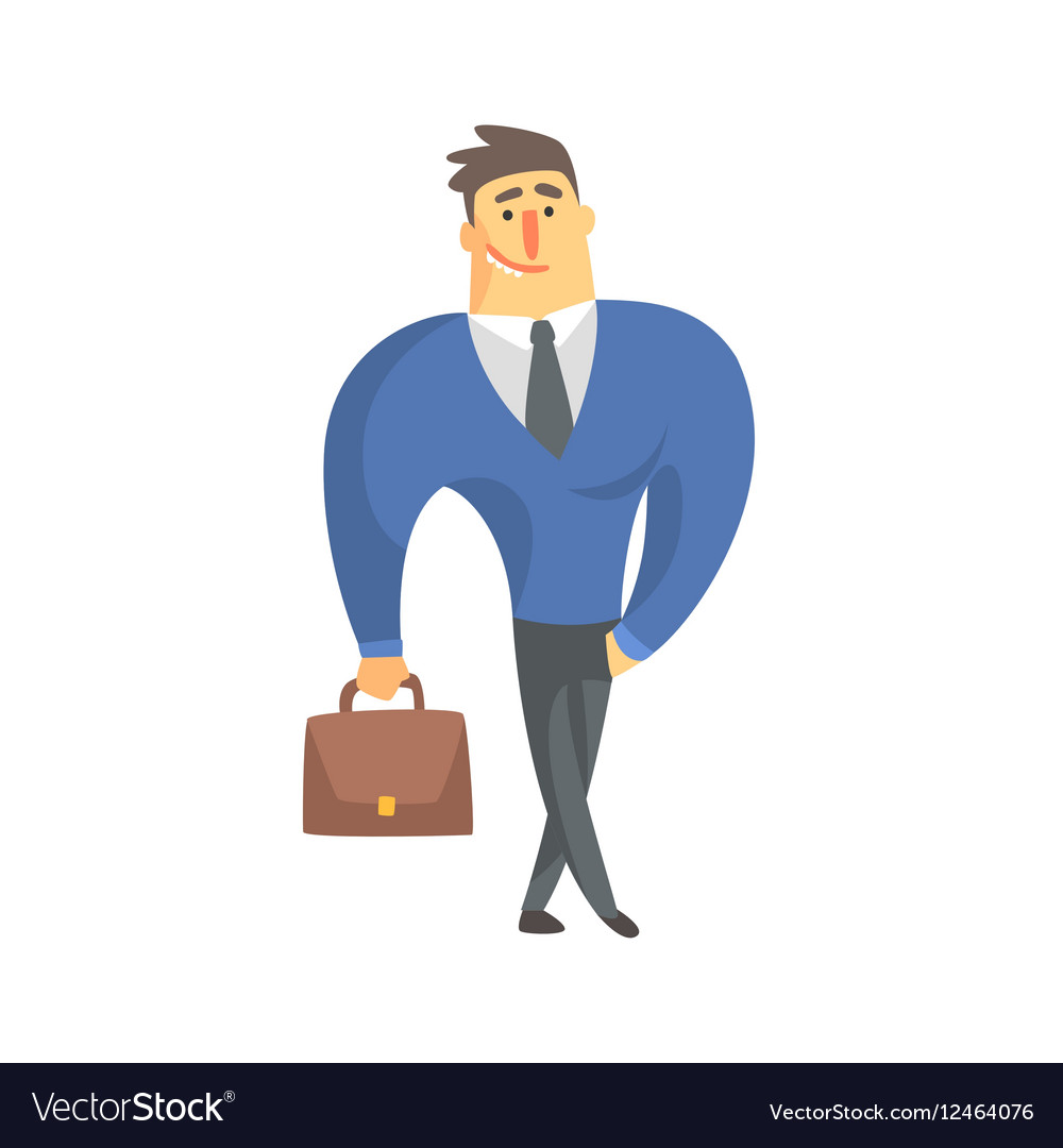 Smiling Businessman Top Manager In A Suit Office vector image