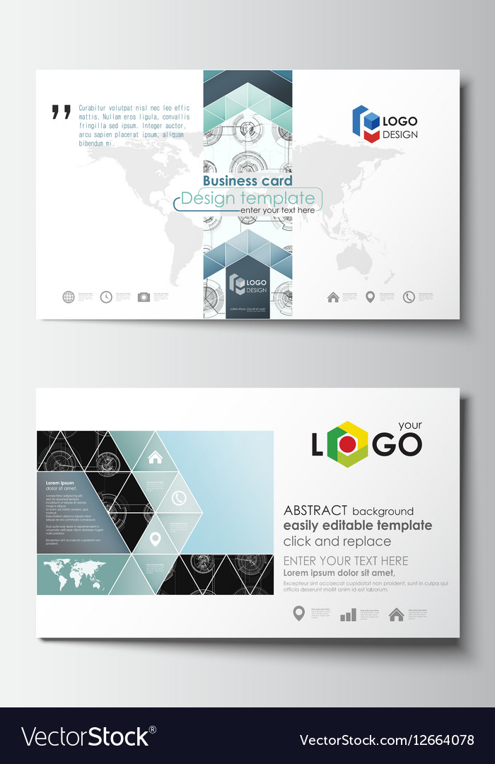 Business card templates easy editable layouts vector image business card templates easy editable layouts vector image reheart Image collections