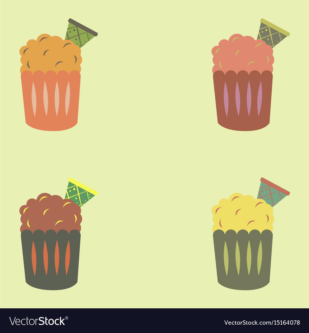 Party cupcakes sweet dessert set