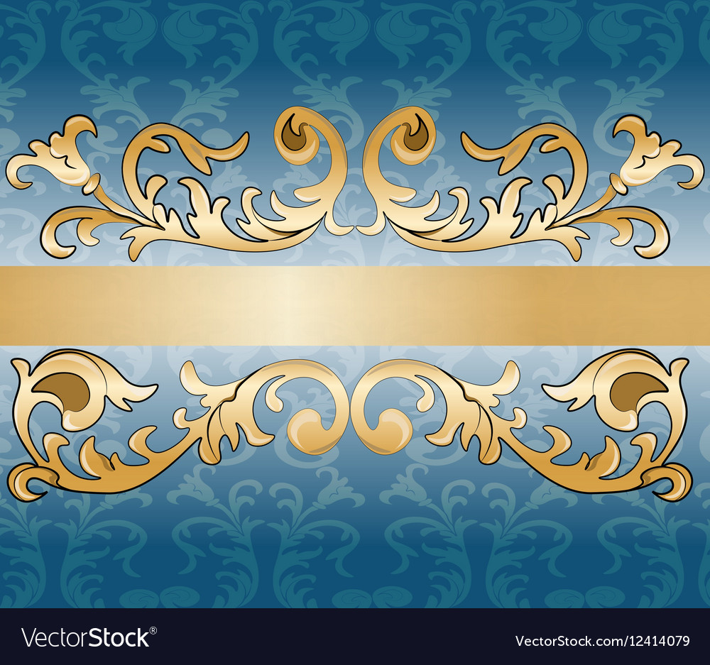 Royal imperial classic ornament damask invitation vector image stopboris Image collections