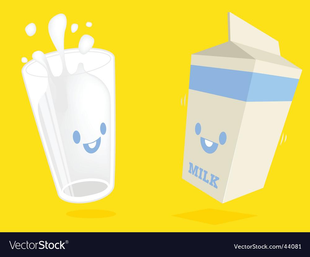 Milk characters vector image