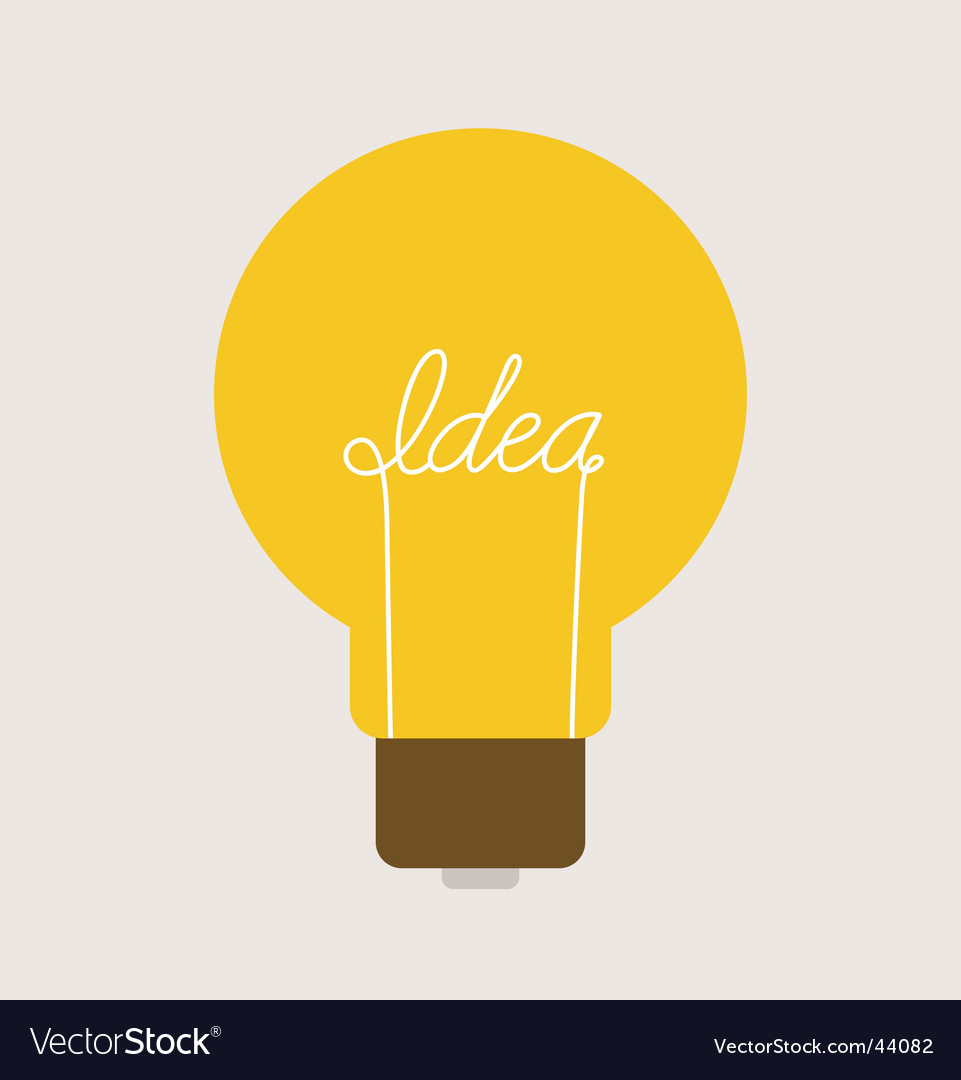 Light blub symbol Vector Image