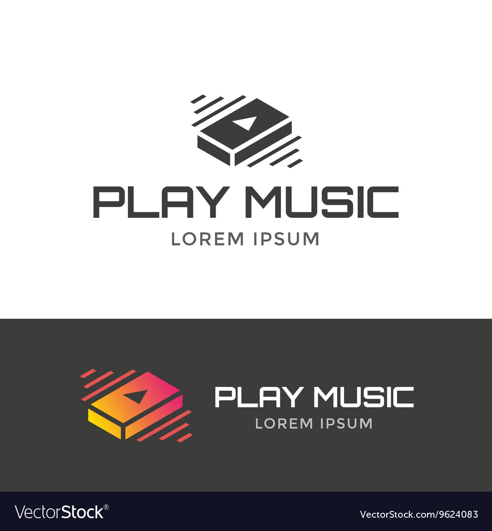 Play music logo vector image