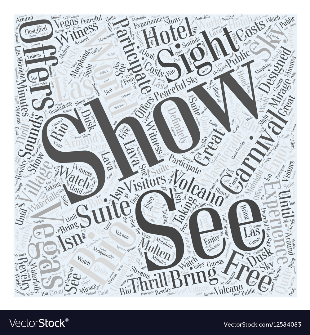 See the World in Vegas Word Cloud Concept vector image