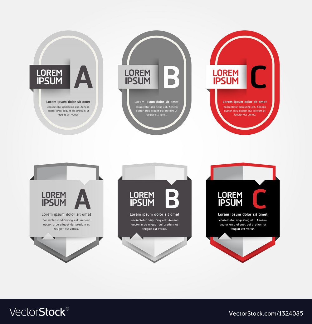 Modern Design Labels can be used for infographics Vector Image