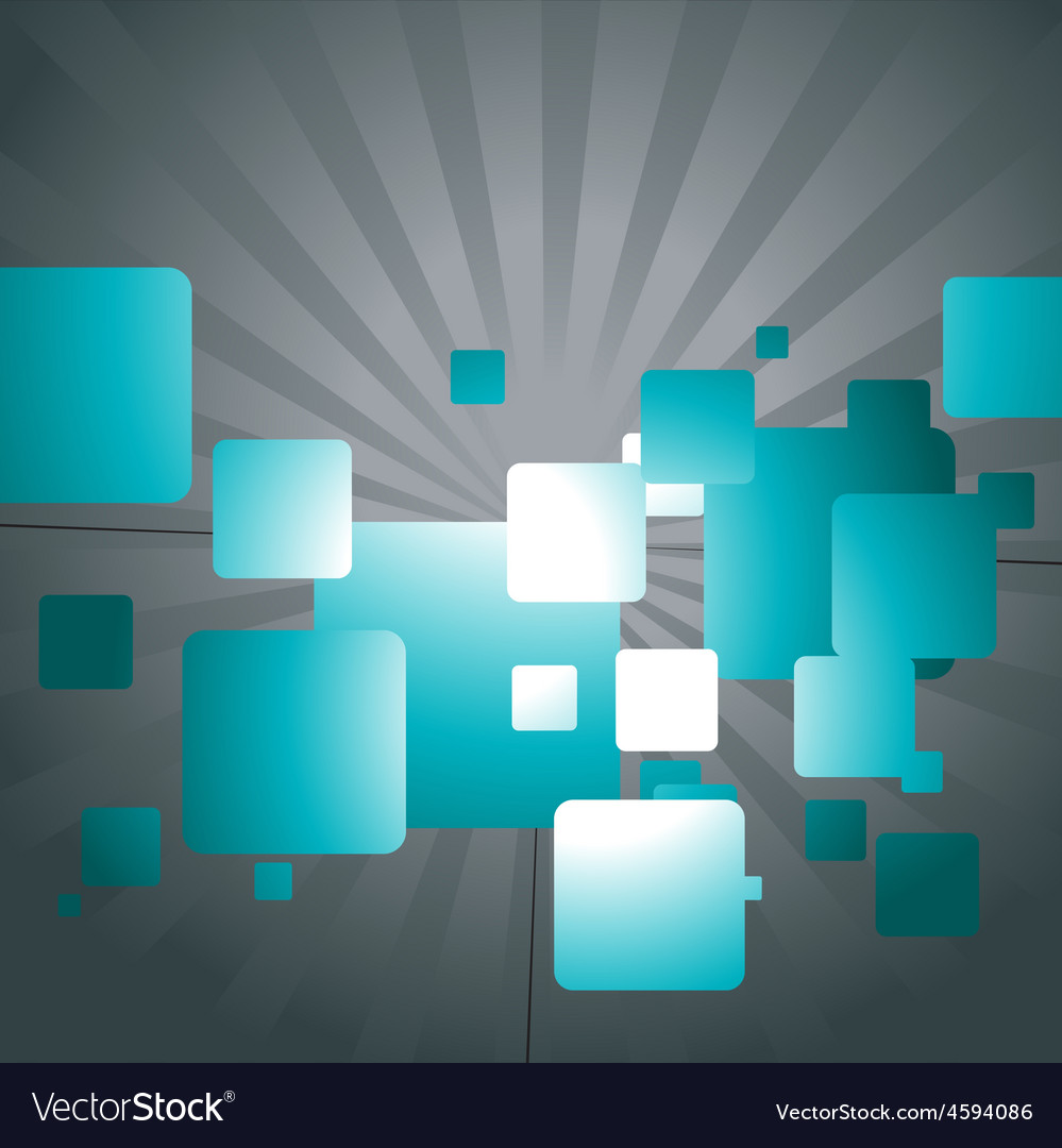 Abstract design of squares vector image
