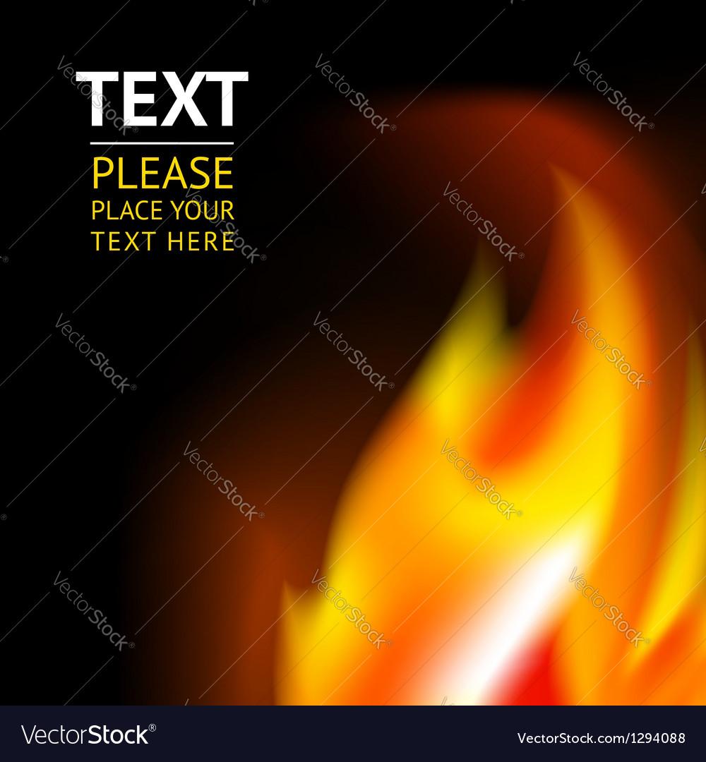 Fiery backdrop vector image