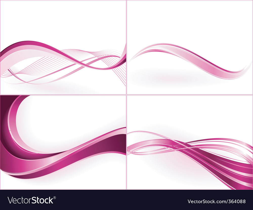 Abstract wavy pattern vector image