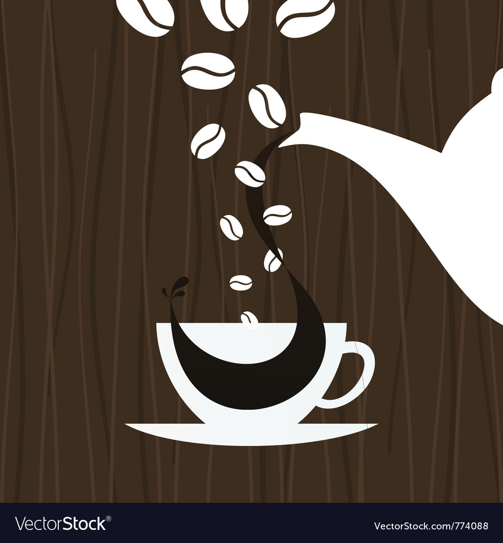 Cup pour coffee vector image
