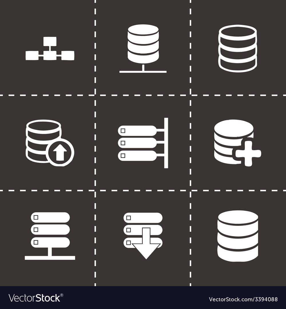 Database icon set vector image