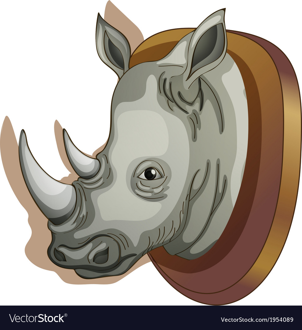 A head of a rhino vector image
