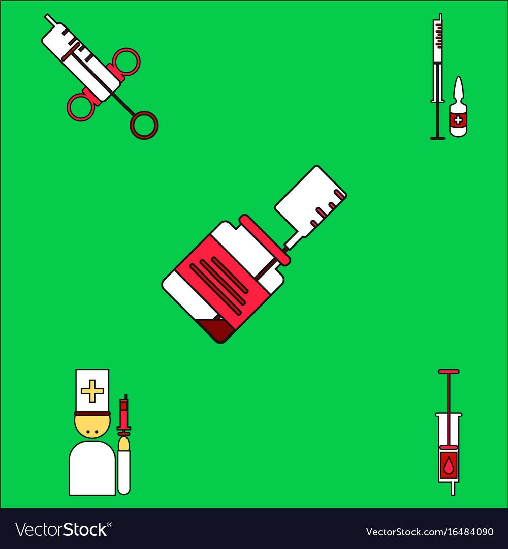 syringe icons 9 set