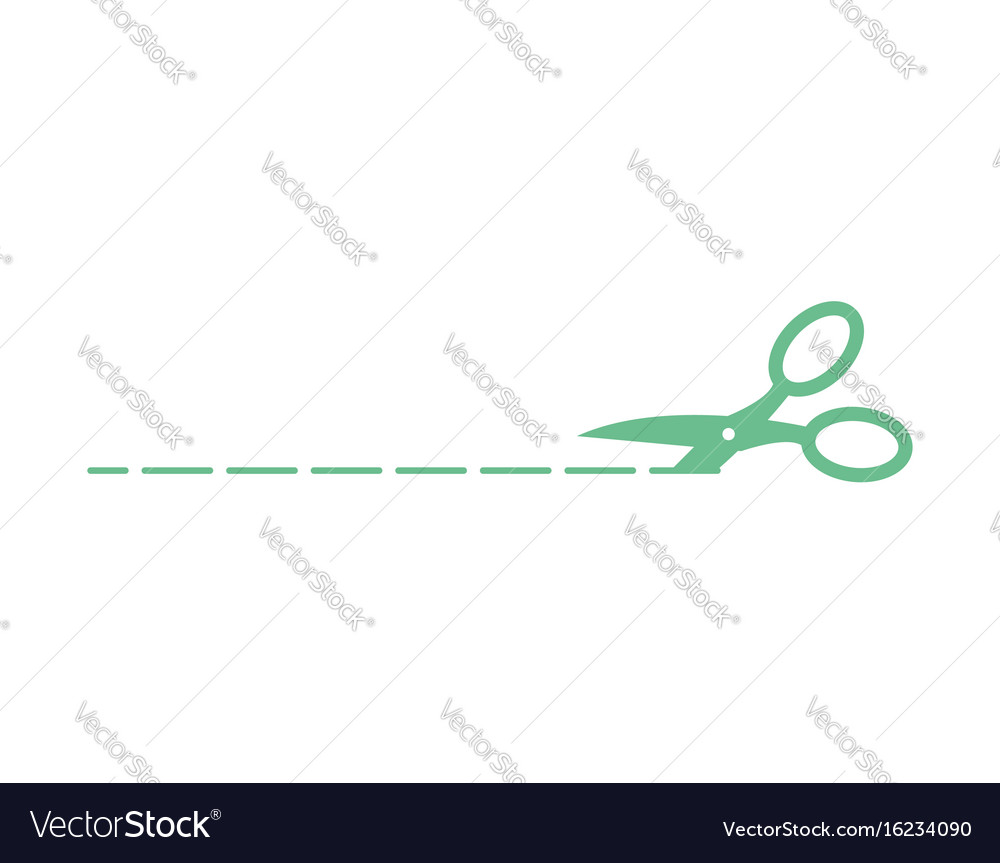 Scissors sign isolated symbol cut with shears vector image
